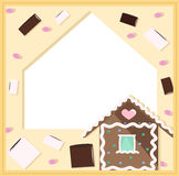 Frame with sweets Stock Images