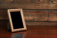 Frame on table Royalty Free Stock Photography