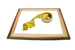 Frame with a tailoring meter Stock Images