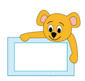 Frame with teddy bear Stock Photos