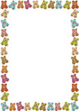 Frame of teddybears. Frame out of colored teddybears. Available as Illustrator-file Royalty Free Stock Photo