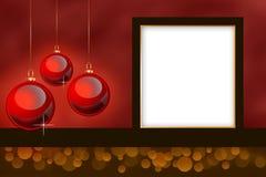Frame temático da foto do Natal vazio. Fotos de Stock Royalty Free