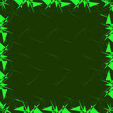Frame template in green color. Vector illustration Royalty Free Stock Photography