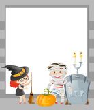 Frame template with halloween theme Royalty Free Stock Photo