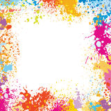 Frame template made of paint stains vector illustration