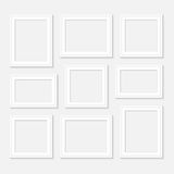Frame template set for pictures and photos. Isolated . Frame template set for pictures and photos. Isolated Royalty Free Stock Images