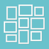 Frame template set for pictures and photos. Isolated vector. Frame template set for pictures and photos. Isolated vector Royalty Free Stock Image