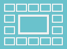 Frame template set for pictures and photos. Isolated vector. Frame template set for pictures and photos. Isolated vector Stock Photo