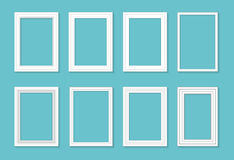 Frame template set for pictures and photos. Isolated vector. Royalty Free Stock Photos