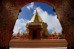 Frame of Temple. This is a Temple of Doi Suthep in Chingmai at thailand stock photography