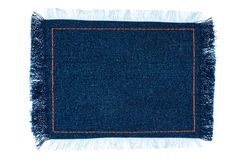 Frame for the text from a blue jeans fabric with the stitched li Royalty Free Stock Photos