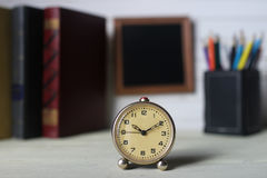 Frame for text books and watch Royalty Free Stock Image