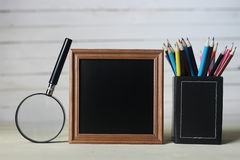 Frame for text books and watch Royalty Free Stock Photos