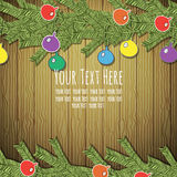 Frame for text with fir branches Stock Images