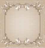 Frame for text with a floral pattern Royalty Free Stock Image