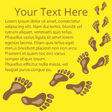 Frame for text of footprints 03. Frame for text of footprints brown and yellow vector illustration