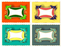 Frame for text. Or greeting cards, set of four colors options vector illustration