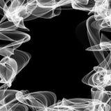 Frame for text made of white smoke Royalty Free Stock Photos