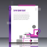 Frame for text Modern Art graphics for hipsters Royalty Free Stock Photography