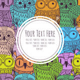Frame for text with an owl Stock Photo
