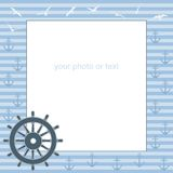 Frame for text or photo from the steering wheel Royalty Free Stock Photos