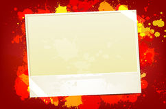 Frame for text on splash red background Royalty Free Stock Image
