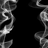 Frame for text of two smoke lines waving on right and left sides of design Stock Photos