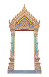 Frame of Thai ancient gate art Royalty Free Stock Images