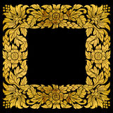 Frame thai art pattern Stock Photos