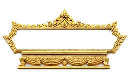 Frame with Thai art wall pattern. In thailand Temple Royalty Free Stock Images
