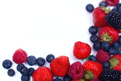 Frame their mix of juicy berries Royalty Free Stock Photography