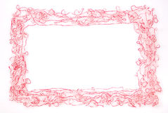 Frame. Threads  isolated on a white background Stock Images