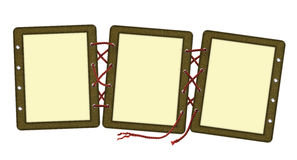 Frame for three photos, laces Royalty Free Stock Photos