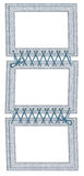 Frame for three photos with laces Royalty Free Stock Image
