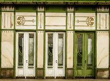 Frame. Three white doors in art noveau style -details of Viennas architecture Stock Image