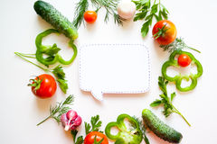 Frame with tomato and herbs Royalty Free Stock Image