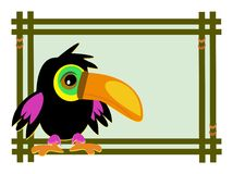 Frame with Toucan Baby Royalty Free Stock Photos
