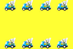 Frame of Toy cars Stock Photography
