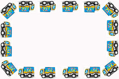 Frame of Toy cars Stock Images