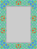 Frame from traditional ornament Royalty Free Stock Images