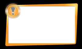 Frame and transparent circles with exclamation mark Stock Image