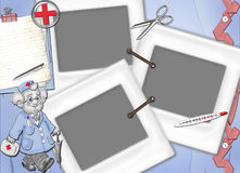 Frame for treatment, recover and for doctors. Frame for treatment, recover and for doctors, for registration of photos Royalty Free Stock Photo