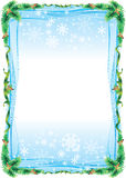 Frame tree. Christmas frame for greeting messages Royalty Free Stock Images
