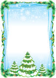Frame tree. Christmas frame for greeting messages Stock Photo