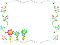 Frame of Trio Happy Flowers Stock Image