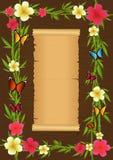 Frame tropical ilustração stock
