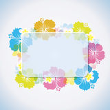 Frame tropical abstrato Fotos de Stock Royalty Free