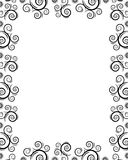 Frame with twirls. Frame with design twirls on it Stock Images