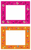 Frame. Two beautiful frames for woman Royalty Free Stock Image