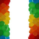 Frame of two columns of air balloons Royalty Free Stock Photo